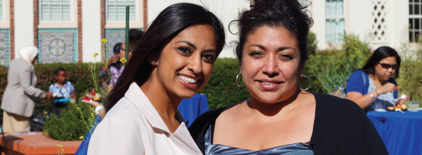 Daughter and Mom at Guardian Scholars Program