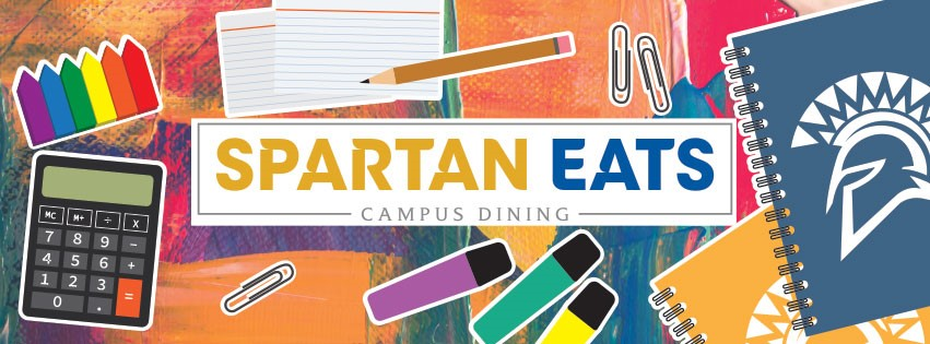 Colorful Spartan Eats Campus Dining logo