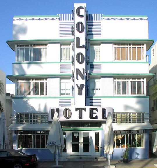 The Colony Hotel Miami Beach Fl Deco