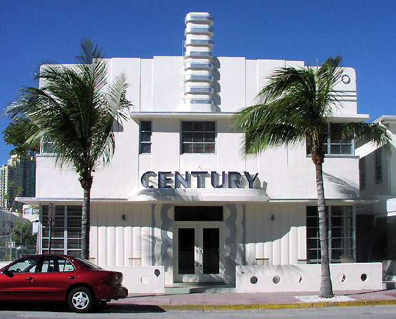 Miami beach art deco streamline moderne hotel buildings for Moderne hotels