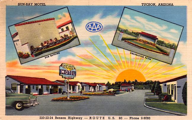 Motel americana motel postcards for Americana hotel nyc