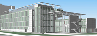 Image of New Student Health and Counseling Facility architect's rendering