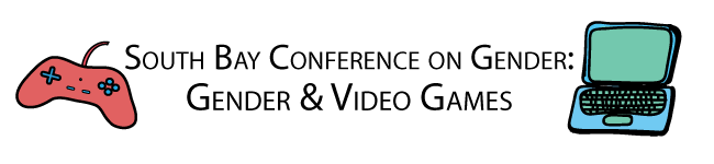Gender & Video Games Conference Logo with Laptop and Gamepad.