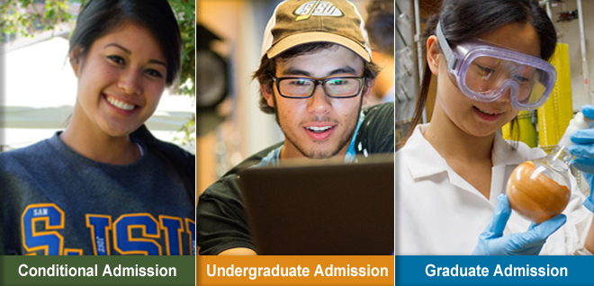 conditional admission, undergraduate admission, and graduate admission