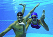 students at aquatic center