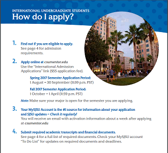 requirements undergraduate admission marketing materials sjsu university state students jose san