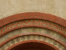Architectural details on SJSU campus