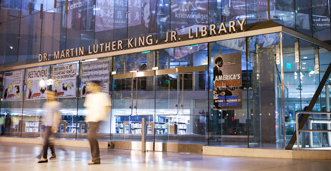 A photo of the Dr. Martin Luther King, Jr. Library