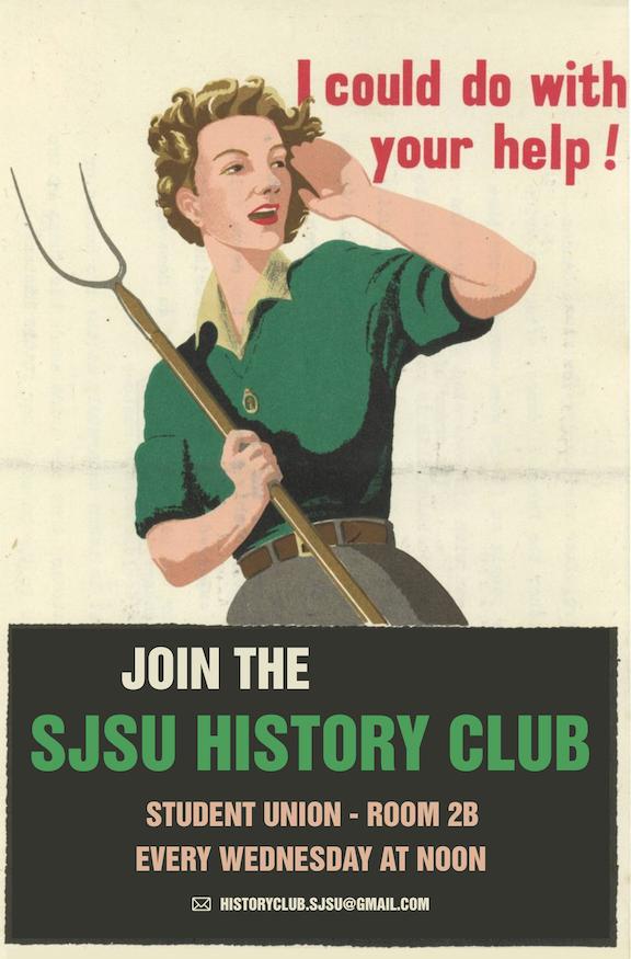 SJSU history club flyer