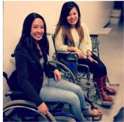 TR Students in Wheel Chairs