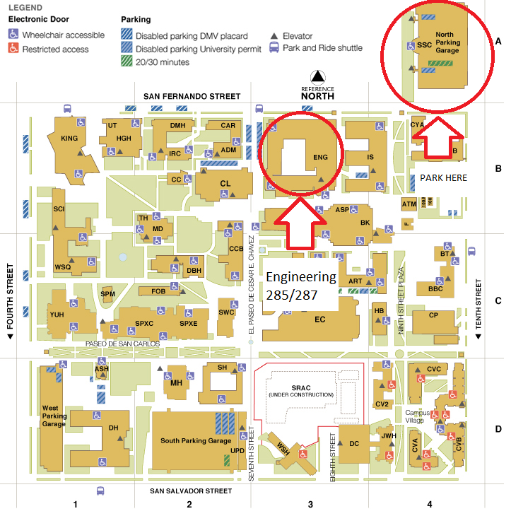 Campus Map/Directions | Interdisciplinary Computing Summer Institute ...