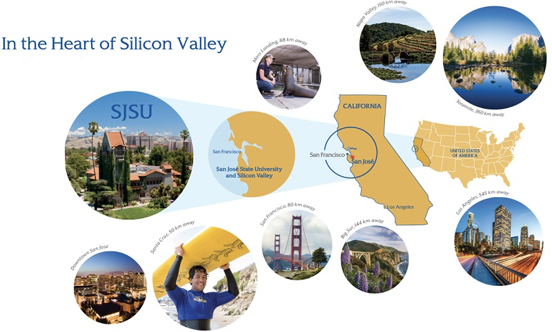 San José State University is located in the heart of Silicon Valley