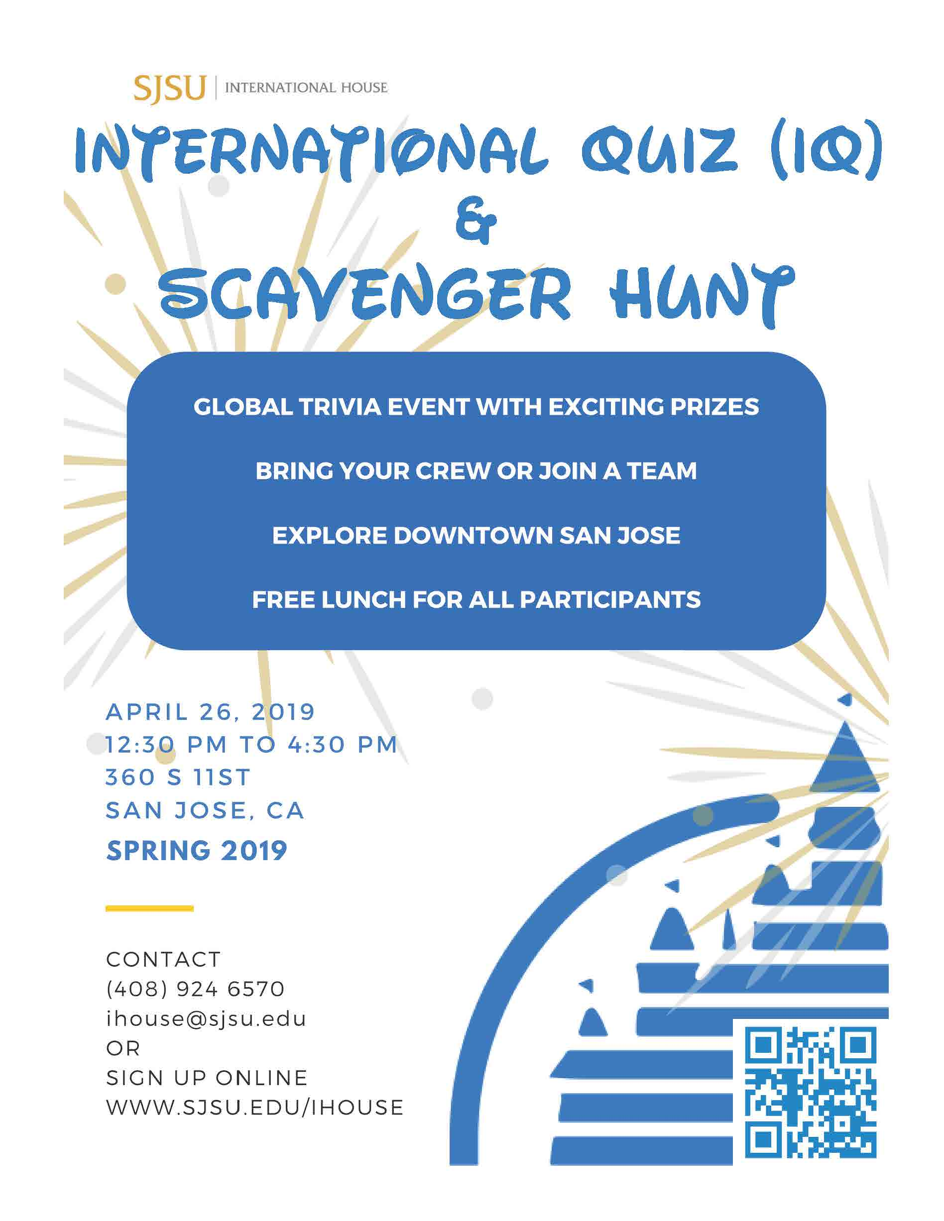 Spring 2019 International Quiz flyer