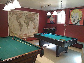Pool Tables in Party Room