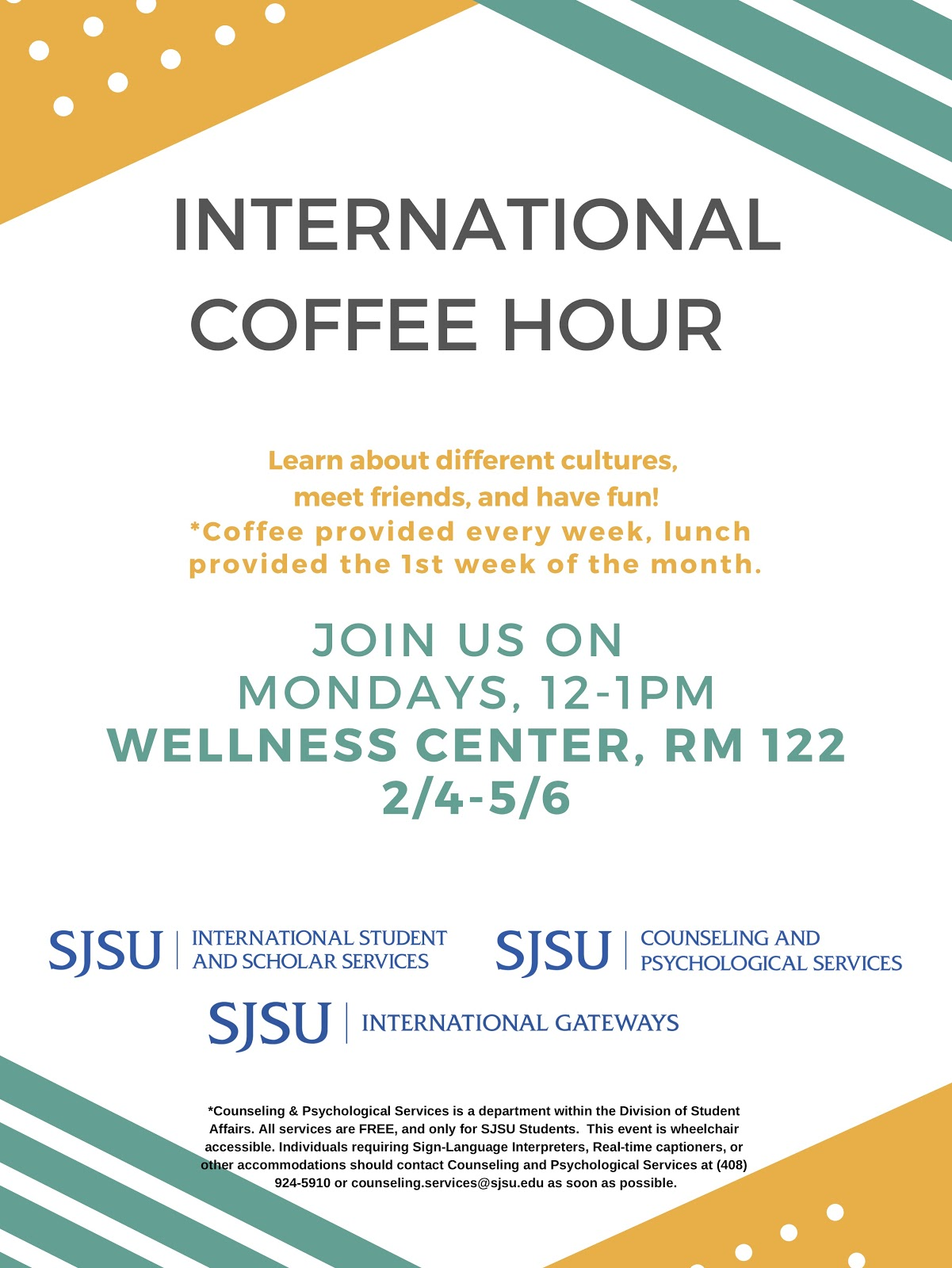International Coffee Hour Poster
