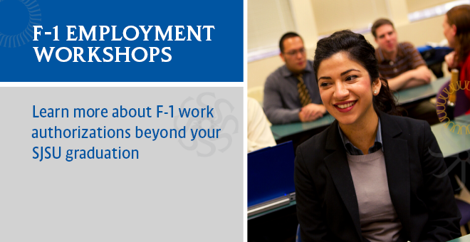 SJSU F-1 Employment Workshops