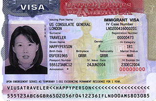 Sample Visa Image