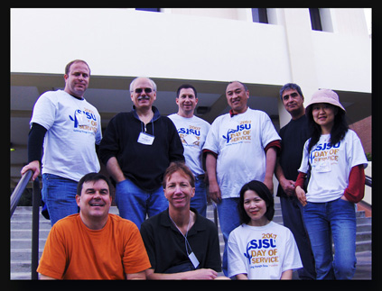 MIS faculty doing SJSU day of service