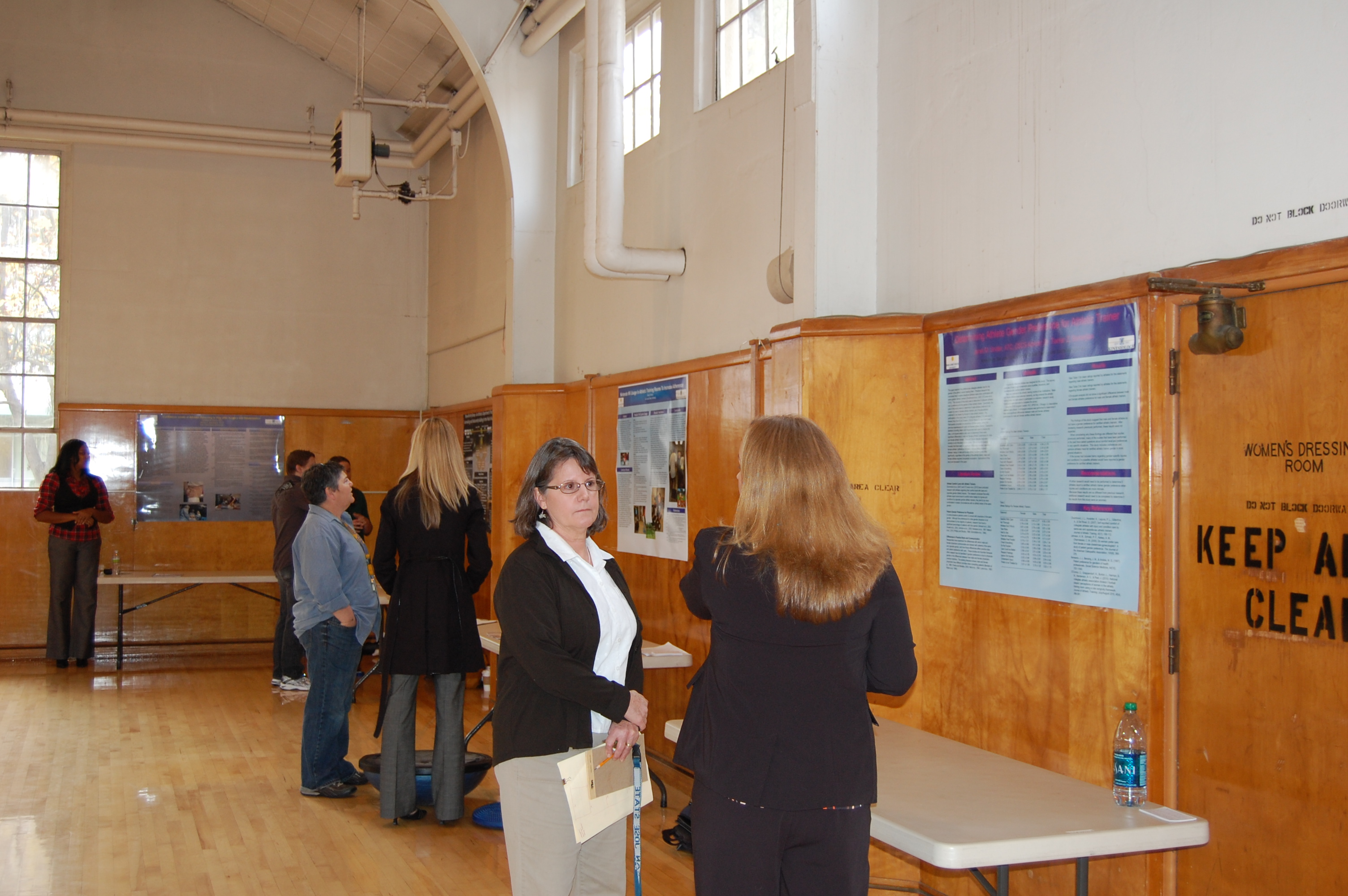 Student Presenting Poster Presentation