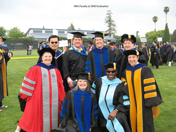 kin faculty at 2008 graduation