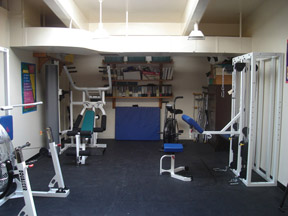 exercise equipment at adapted lab
