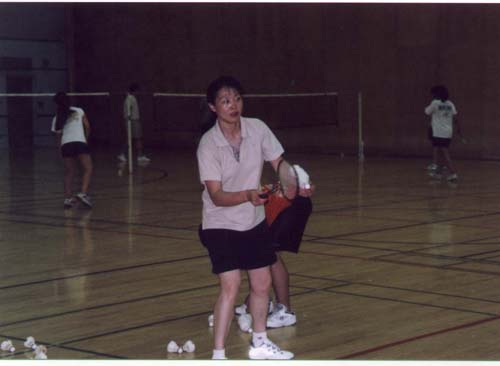 Dr. Li about to serve