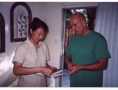 Dr. Li at Dr. Payne's house