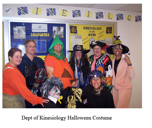 dept of kinesiology halloween costume party