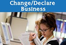 Change Declare Business Button