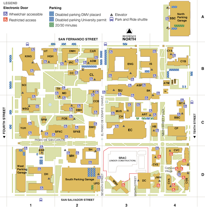 Main Campus Map | San Jose State University on