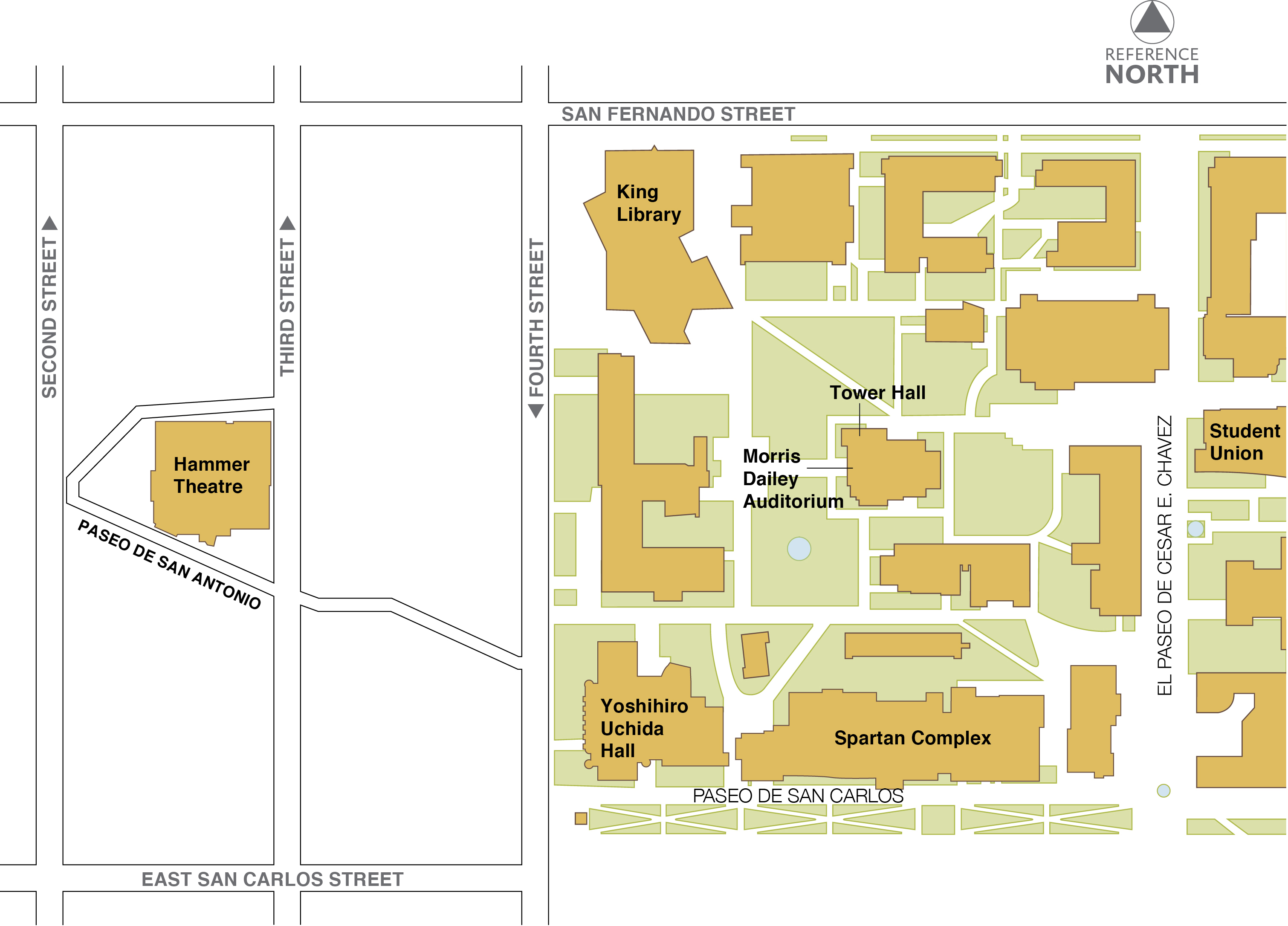 Main Campus Map San Jose State University