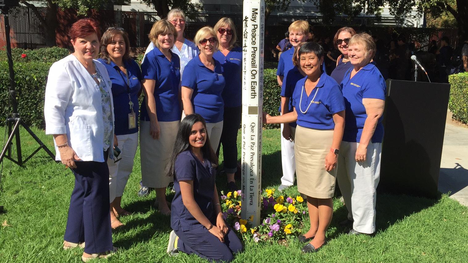 School of Nursing Peace Pole Unveiling