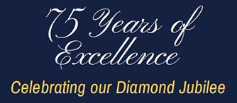 75 years of excellence diamond anniversary photo