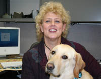 photo of Carolyn Glogoski and her dog, Cami