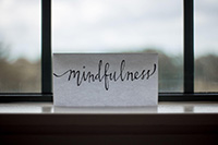 photo of the word 'mindfulness'