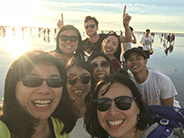 photo of Taiwan group at a beach