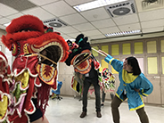 photo of students doing dragon dance in Taiwan