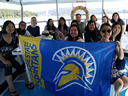 Taiwan group photo with SJSU banner
