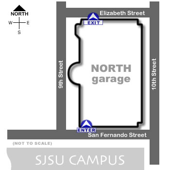 north parking garage map