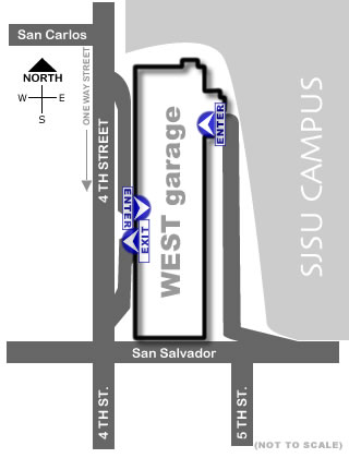 West Parking Garage Map