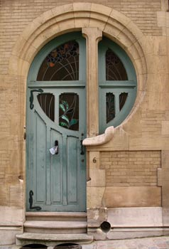 Art Nouveau Door in Brussels, Belgium