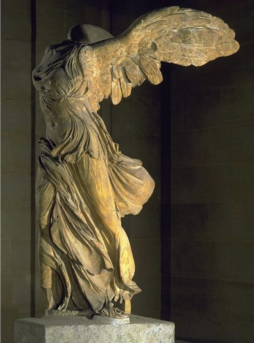 The Winged Victory of Samothrace (Nike in Greek) c. 190 BCE