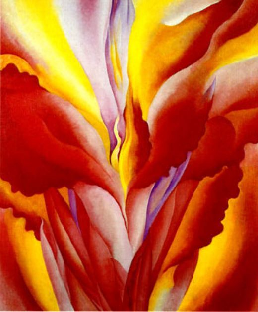 "Georgia O'Keeffe, ""Red Canna,"" 1923"
