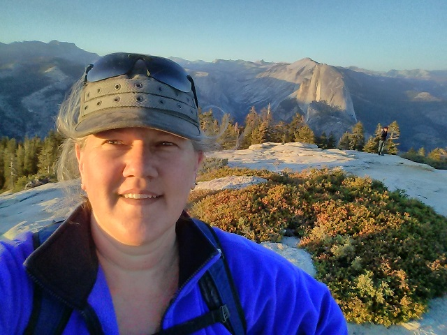 Photo of Kelly atop Sentinel Dome, Yosemite