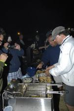 Mark Van Selst cooking at the 'bacon off' at Whidbey Island Race Week