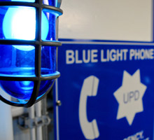 blue light phone