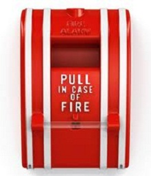 Pull in case of fire, pull station