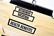 Health Benefits, Vacation, Retirement folders