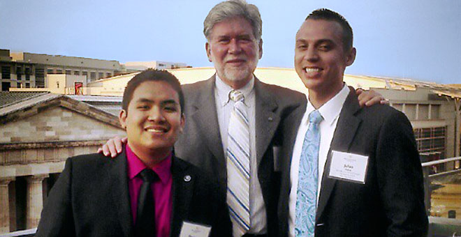 Terry Christensen and Two Student Interns in Washington D.C.