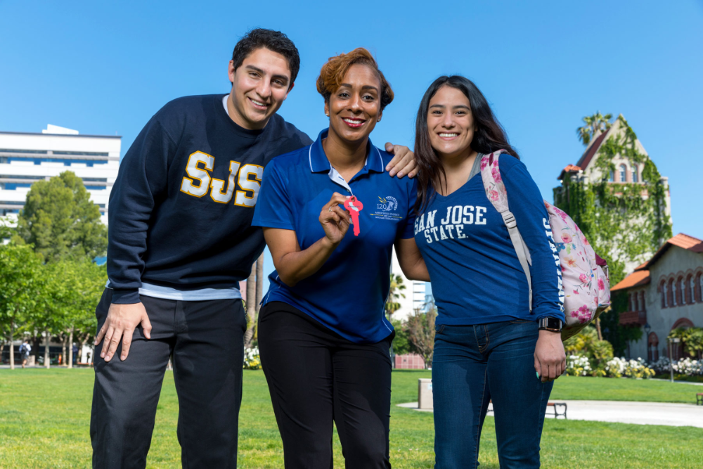 SJSU students and  staff member.